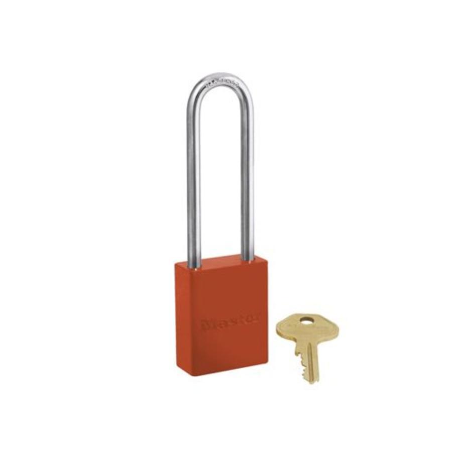 Sicherheitsvorhängeschloss aus Aluminium orange S6835LTORJ