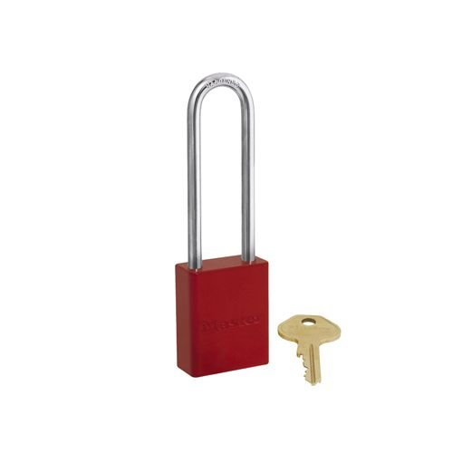 Aluminium safety padlock red S6835LFRED