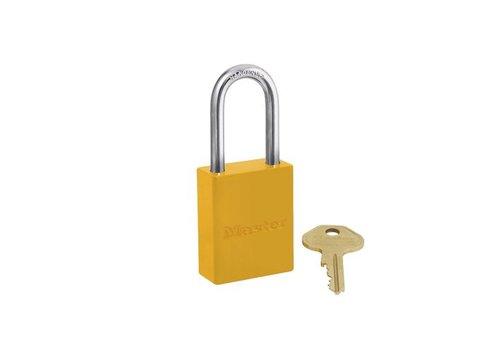 Sicherheitsvorhängeschloss aus Aluminium gelb S6835LFYLW