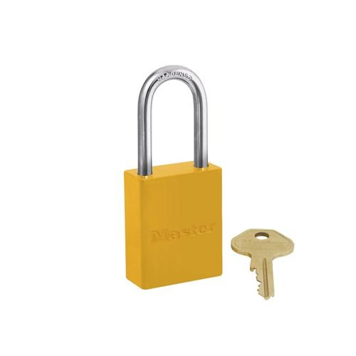 Aluminium safety padlock yellow S6835LFYLW
