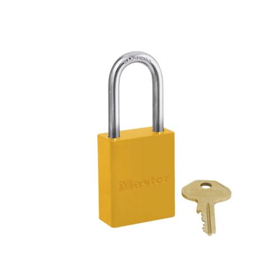 Aluminium veiligheidshangslot geel S6835LFYLW