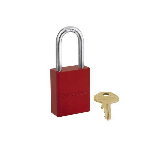Sicherheitsvorhängeschloss aus Aluminium rot S6835LFRED