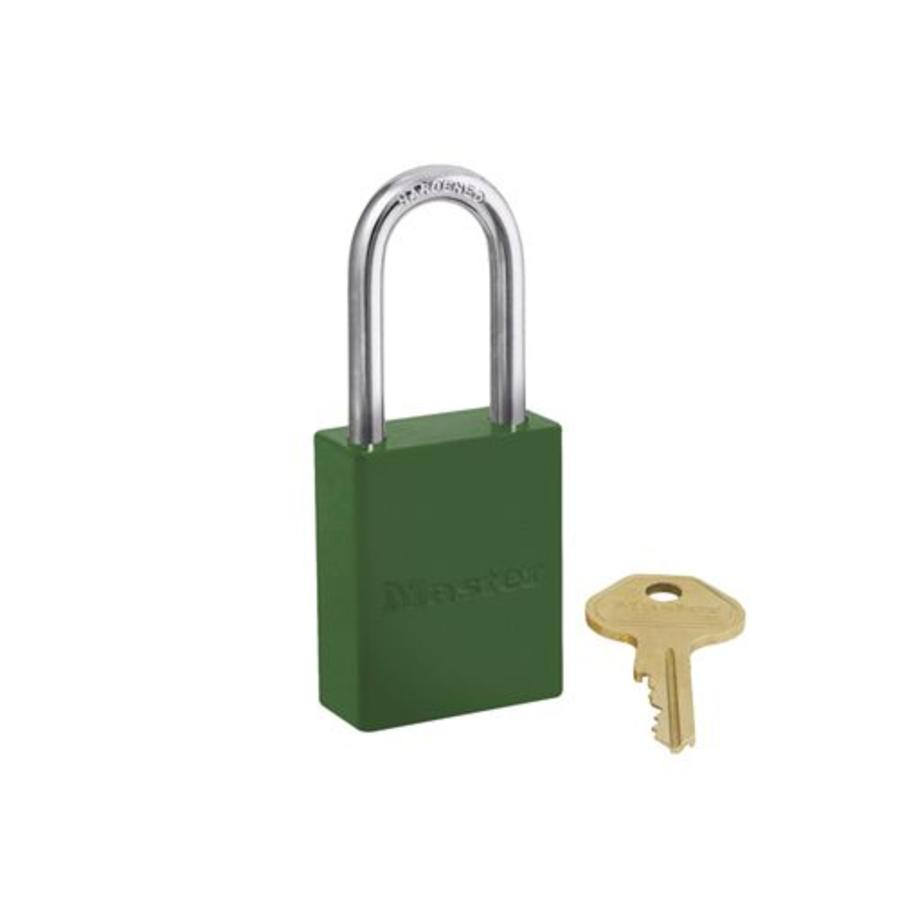 Aluminium safety padlock green S6835LFGRN