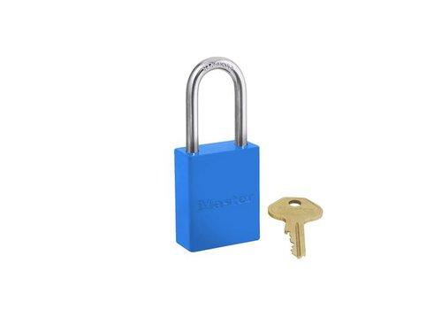 Sicherheitsvorhängeschloss aus Aluminium blau S6835LFBLU