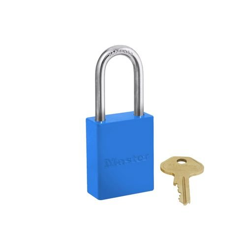 Aluminium safety padlock blue S6835LFBLU