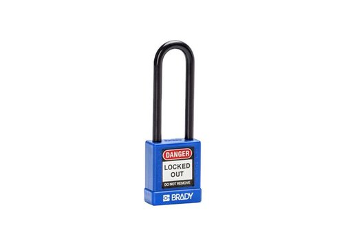 Aluminum safety padlock with plastic cover blue 834474