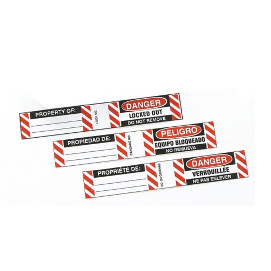 Labels for Steel Padlocks