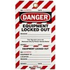 Brady Two-part perforated tags ''EQUIPMENT LOCKED OUT'' 105370