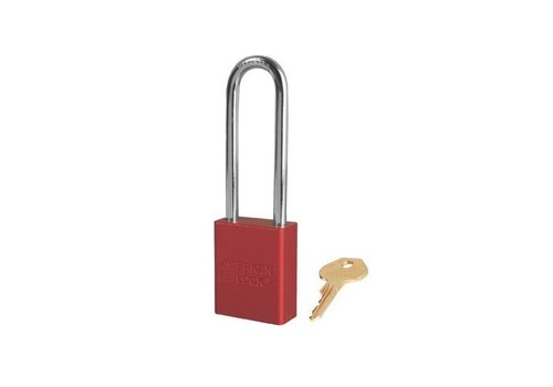 Anodized aluminium safety padlock red S1107RED