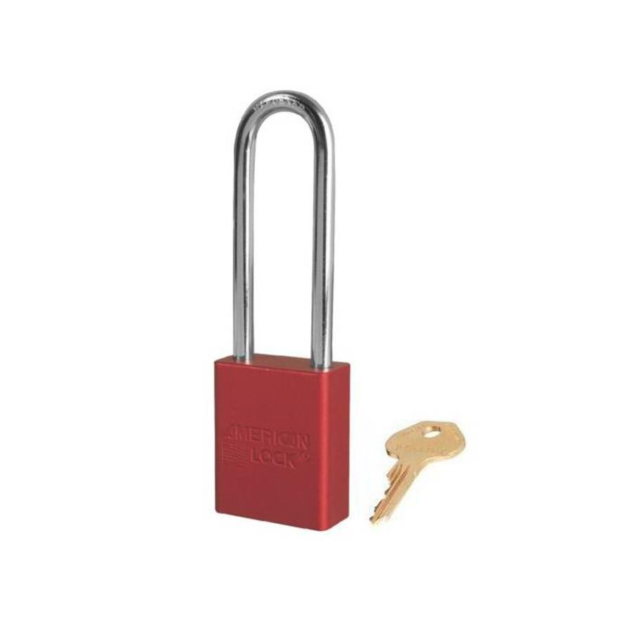 Geanodiseerd aluminium veiligheidshangslot rood S1107RED