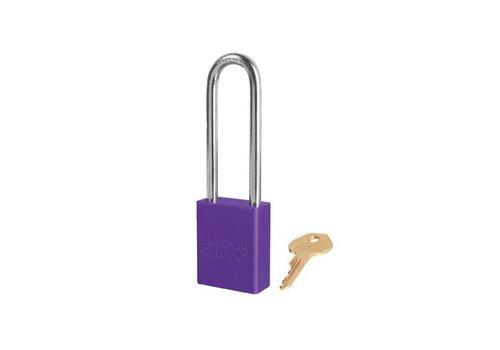 Anodized aluminium safety padlock purple S1107PRP