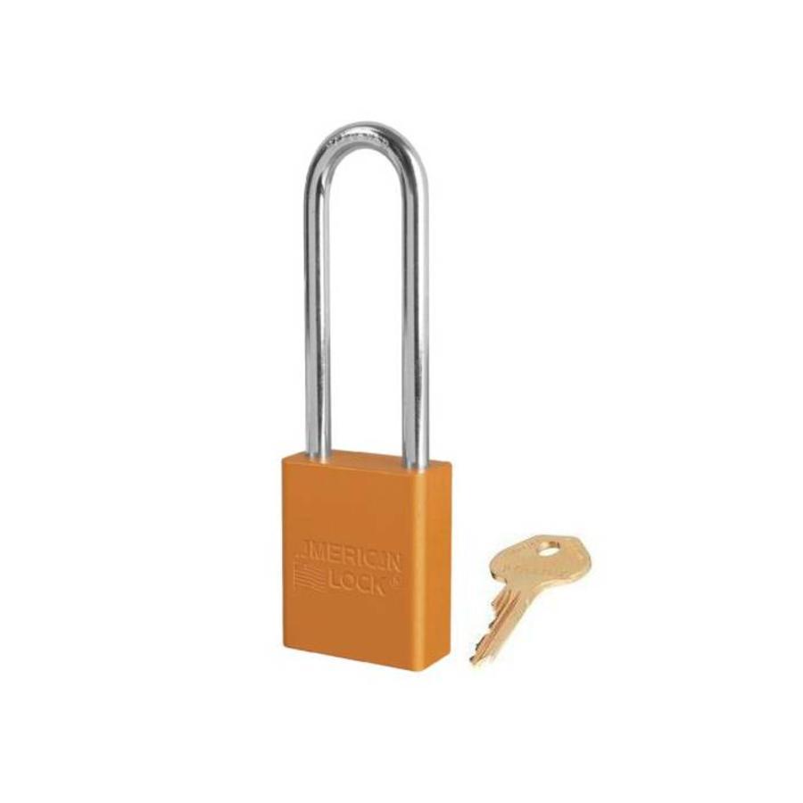 Anodized aluminium safety padlock orange S1107ORJ