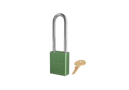 Sicherheitsvorhängeschloss aus eloxiertes Aluminium grün S1107GRN