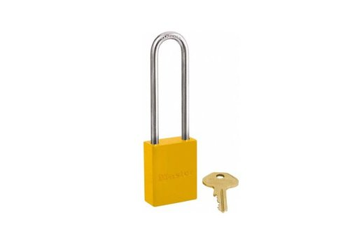 Aluminium safety padlock yellow S6835LTYLW