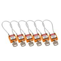 Nylon veiligheidshangslot met kabel oranje 195937
