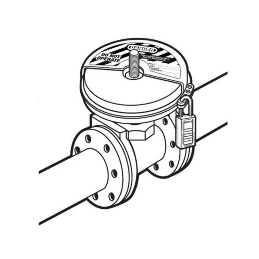 Vergrendelingen voor schuifafsluiters 480D in blisterverpakking