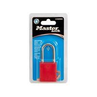 Zenex veiligheidshangslot rood 410DRED in blisterverpakking