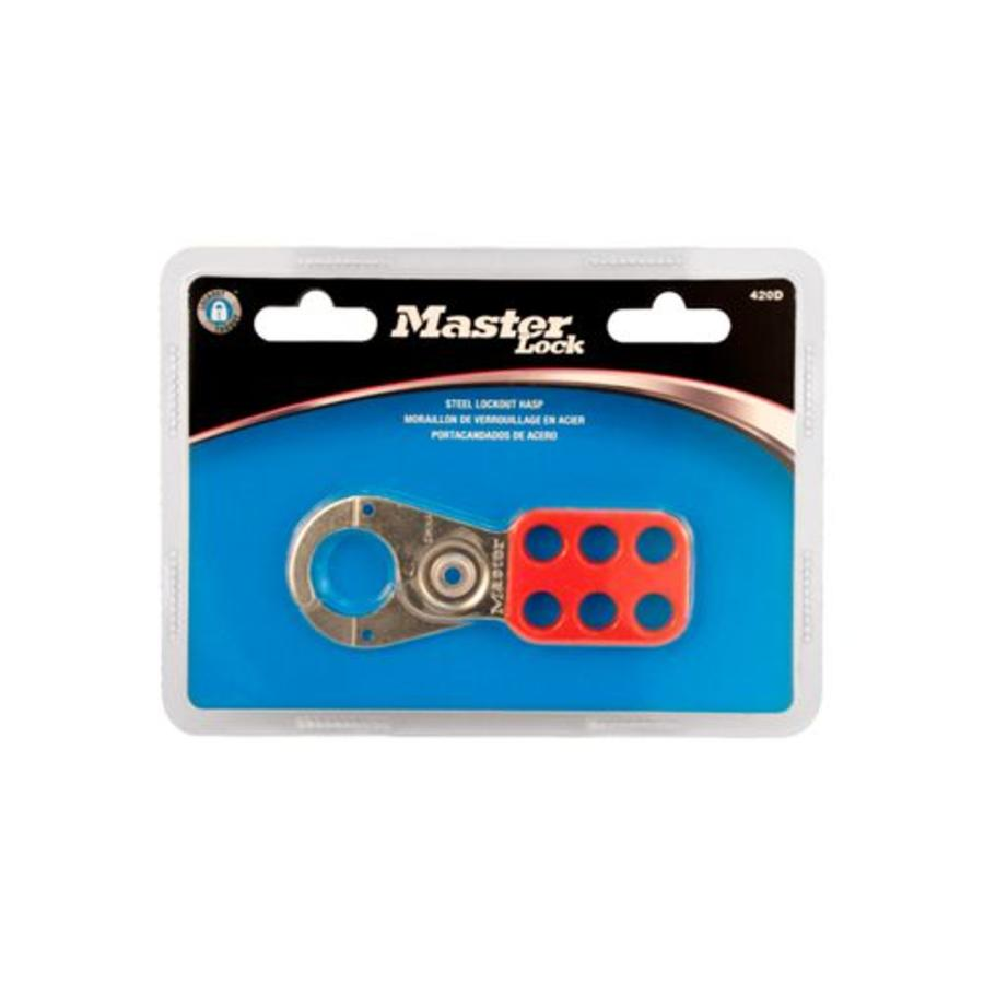 Lockout hasp steel 420D in blister packaging