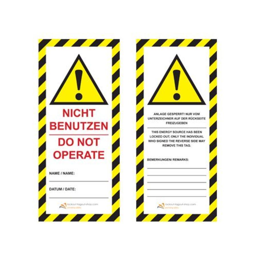 Laminierte Sicherheitsanhänger UIO-SFTAG