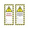 Master Lock Veiligheidstag gelamineerd karton UIO-SFTAG