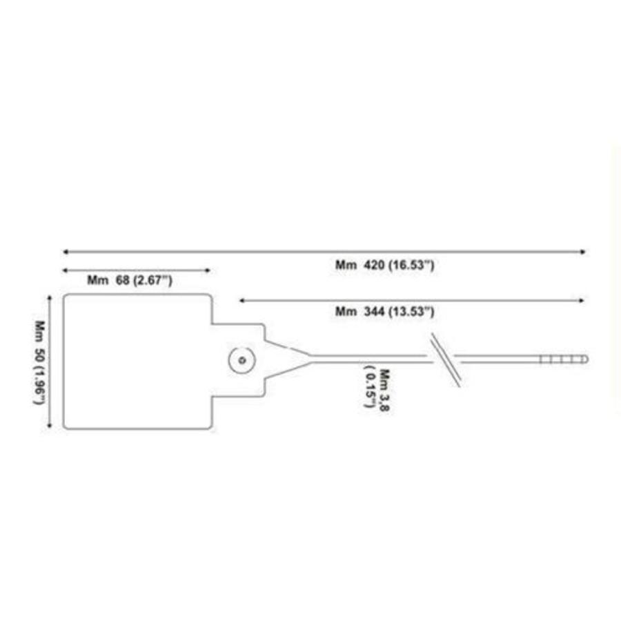 Afsluiter lockout seals (500 stuks) SSTL-03