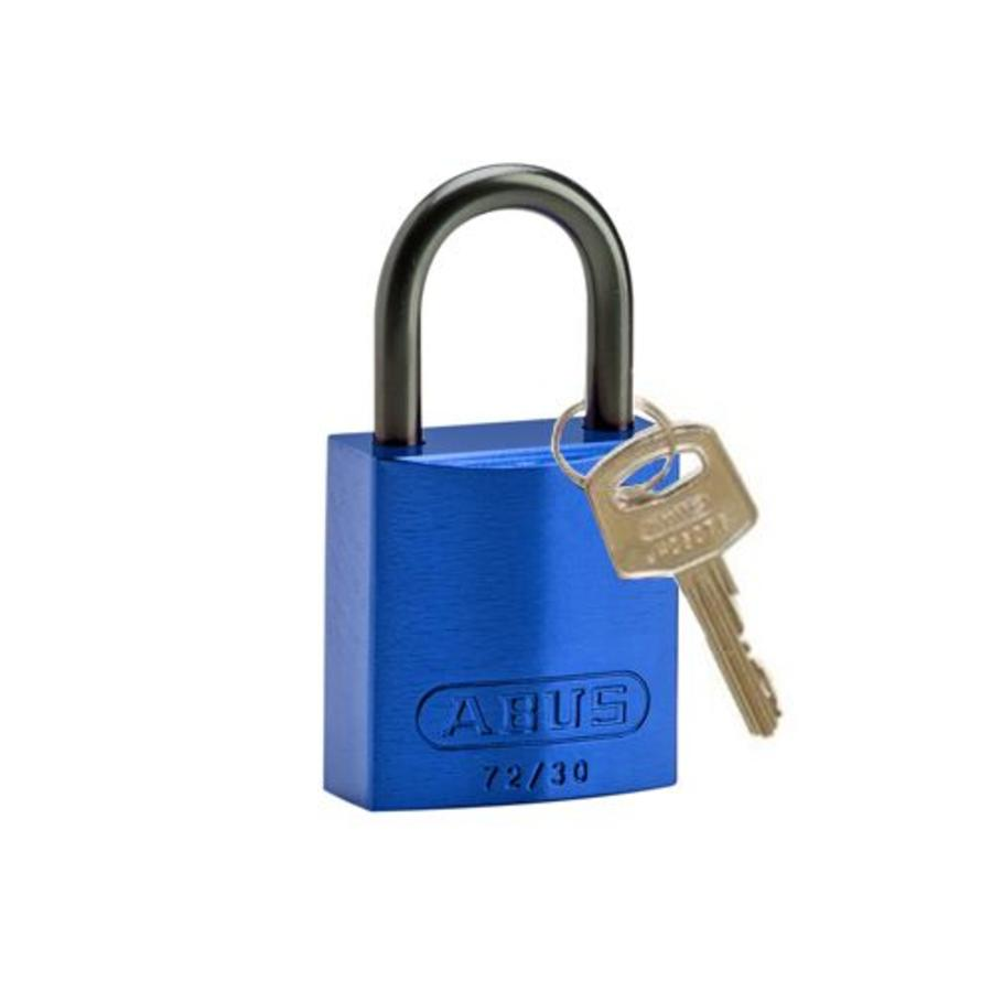 Anodized aluminium safety padlock blue 834856