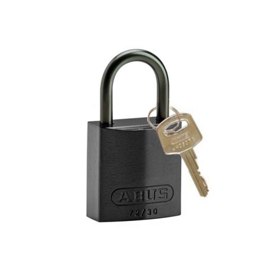 Sicherheitsvorhängeschloss aus eloxiertes Aluminium schwarz 834857