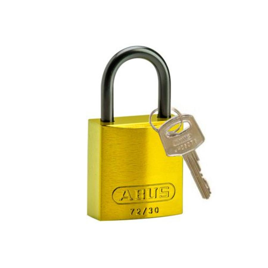 Anodized aluminium safety padlock yellow 834859
