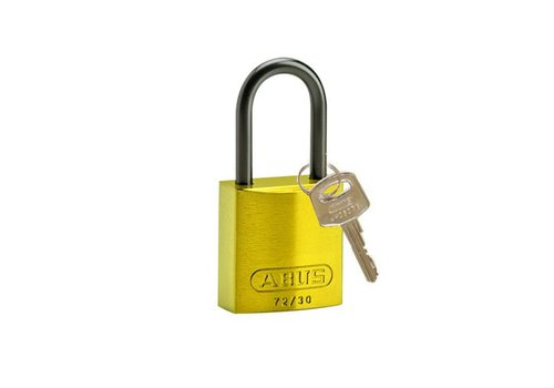 Anodized aluminium safety padlock yellow 834865