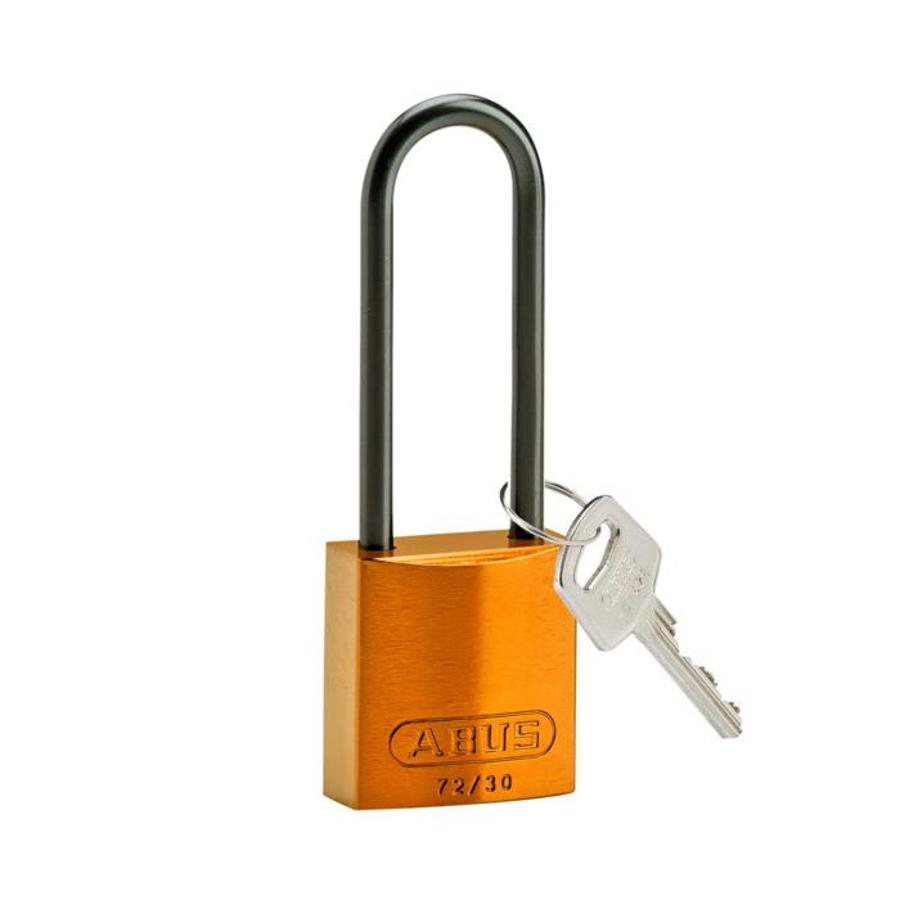 Anodized aluminium safety padlock orange 834879
