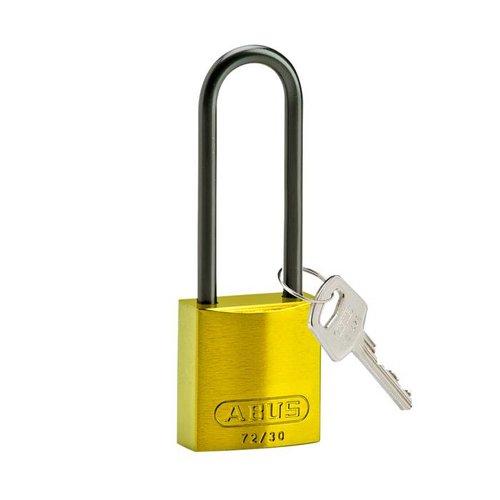 Geanodiseerd aluminium veiligheidshangslot geel 834877