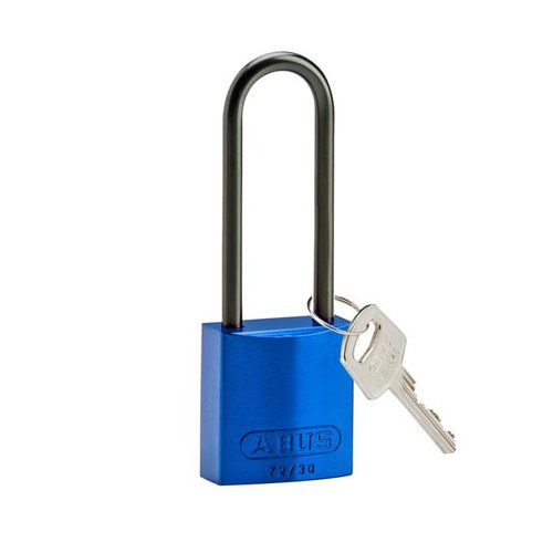 Anodized aluminium safety padlock blue 834874