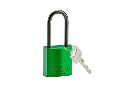 Anodized aluminium safety padlock green 834872