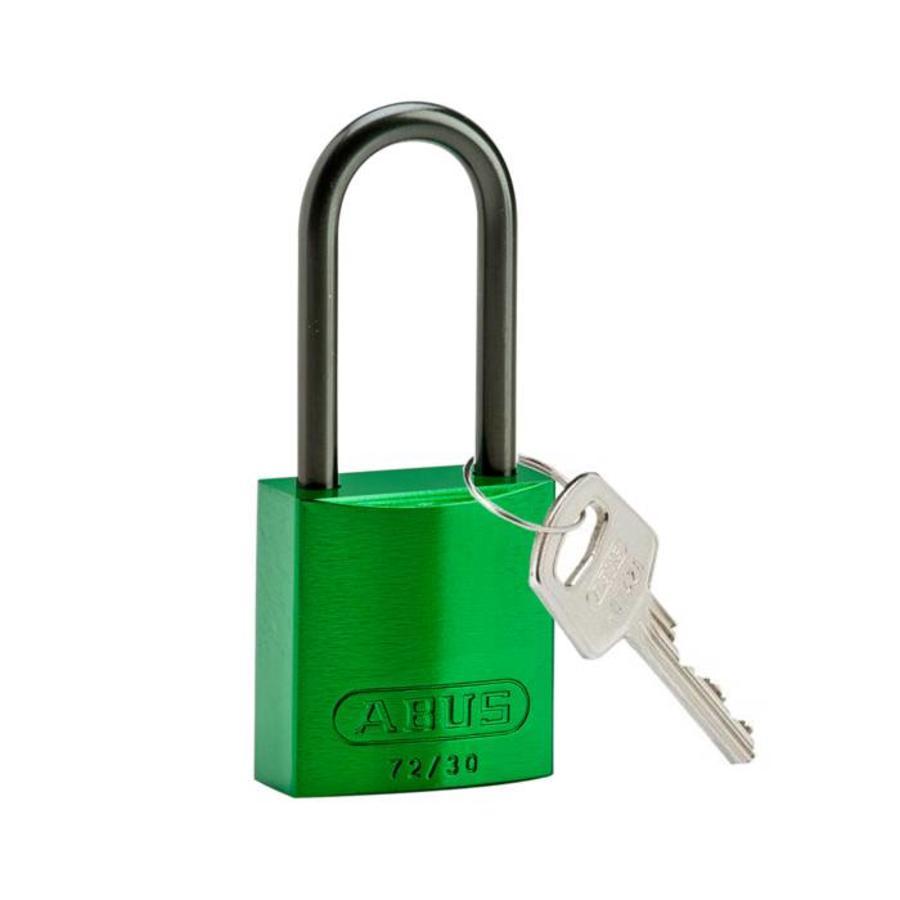 Geanodiseerd aluminium veiligheidshangslot groen 834872