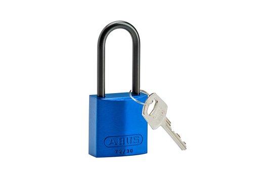 Sicherheitsvorhängeschloss aus eloxiertes Aluminium blau 834868