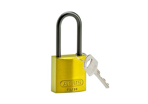 Anodized aluminium safety padlock yellow 834871