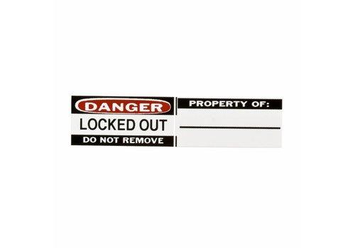 Lockout Labels 6 pieces/Pack 050289