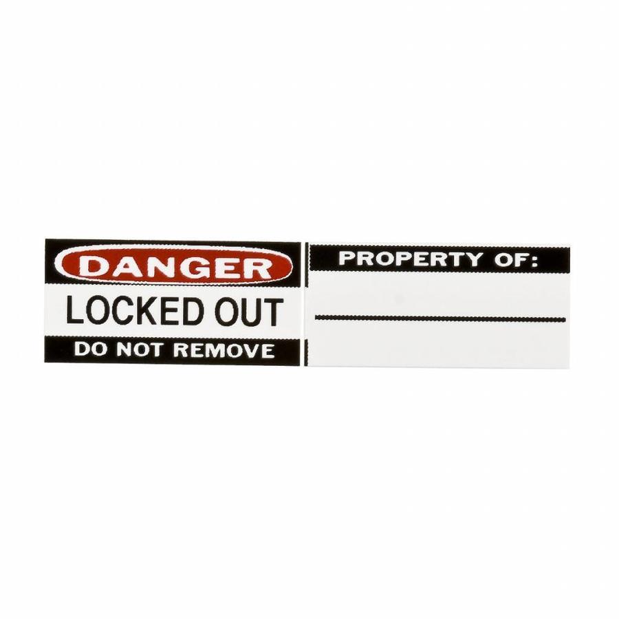 Labels voor aluminium hangsloten (6 stuks) 050289