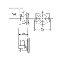 Vergrendeling voor nood- en drukknoppen 104600-104603