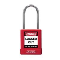 Aluminium Sicherheits-vorhängeschloss mit roter Abdeckung 74BS/40 ROT