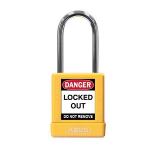Abus Aluminium veiligheidshangslot met gele cover 74BS/40 GELB