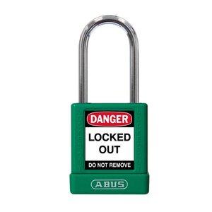 Abus Aluminium Sicherheits-vorhängeschloss mit grüner Abdeckung 74BS/40 GRÜN
