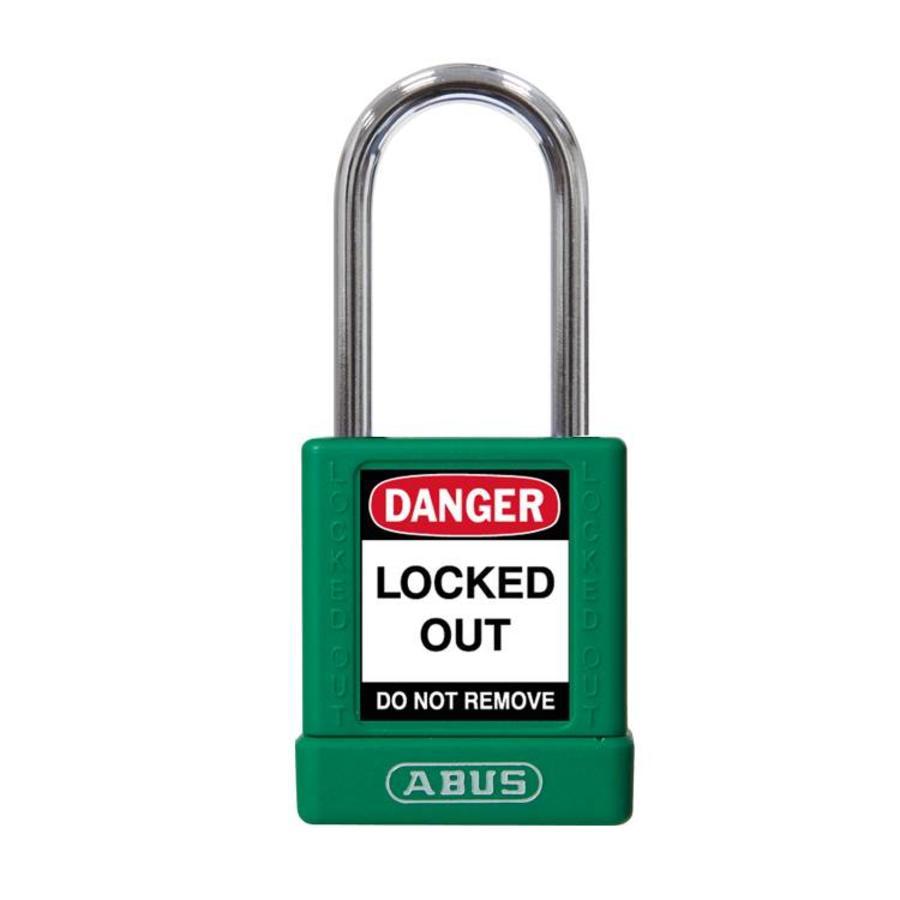 Aluminium Sicherheits-vorhängeschloss mit grüner Abdeckung 74BS/40 GRÜN