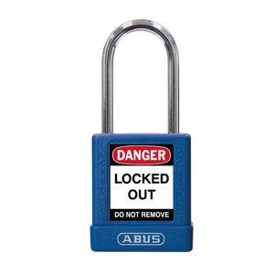 Abus Aluminium Sicherheits-vorhängeschloss mit blauer Abdeckung 74BS/40 BLAU