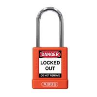 Aluminium Sicherheits-vorhängeschloss mit orange Abdeckung 74BS/40 ORANGE