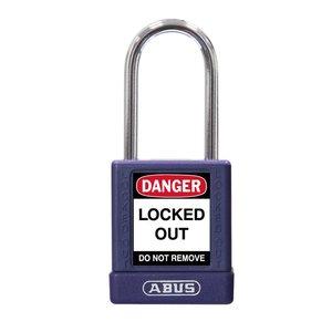 Abus Aluminium veiligheidshangslot met paarse cover 74BS/40 LILA