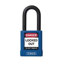 Aluminium Sicherheits-vorhängeschloss mit blauer Abdeckung 74/40 BLAU