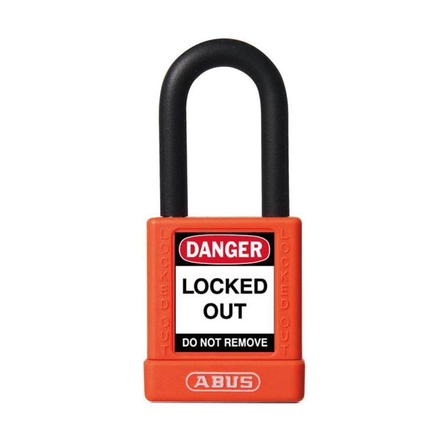 Aluminium Sicherheits-vorhängeschloss mit oranger Abdeckung 74/40 ORANGE