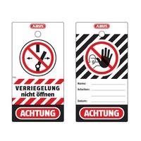 Abus Aluminium Sicherheits-vorhängeschloss mit roter Abdeckung 74BS/40 ROT