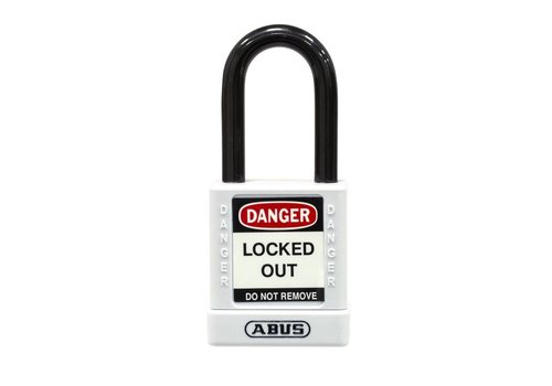 Aluminum safety padlock with white cover 74/40 WEIß